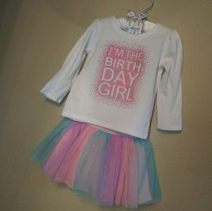 Toddler girl Birthday Outfit